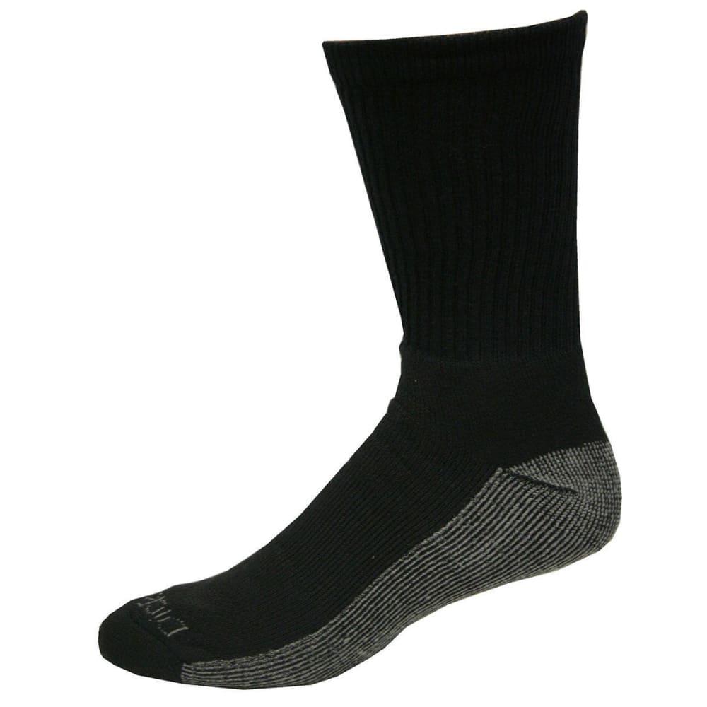 DICKIES Men's Dri-Tech Comfort Crew Socks, 6 Pack - BLACK
