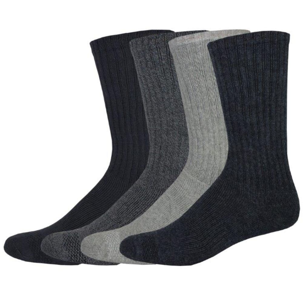 DOCKERS Men's Cushion Comfort Crew Socks, 4 Pack - NAVY 409