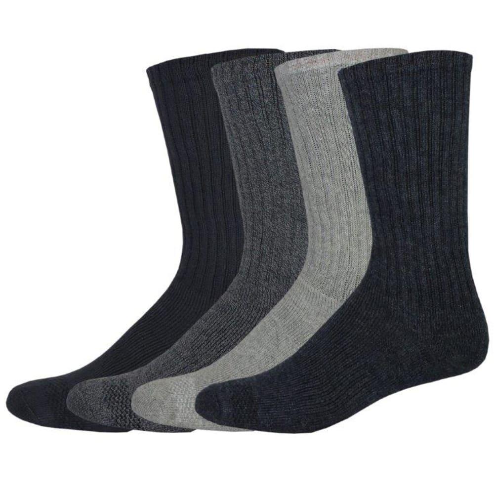 DOCKERS Men's Cushion Comfort Crew Socks, 4 Pack - NAVY 409