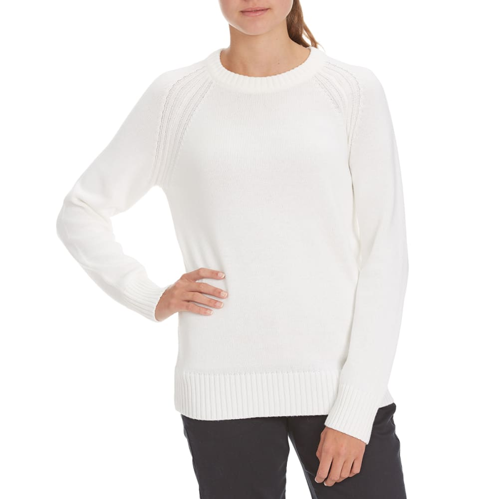 JEANNE PIERRE Women's Perfect Crewneck Sweater - POWDER