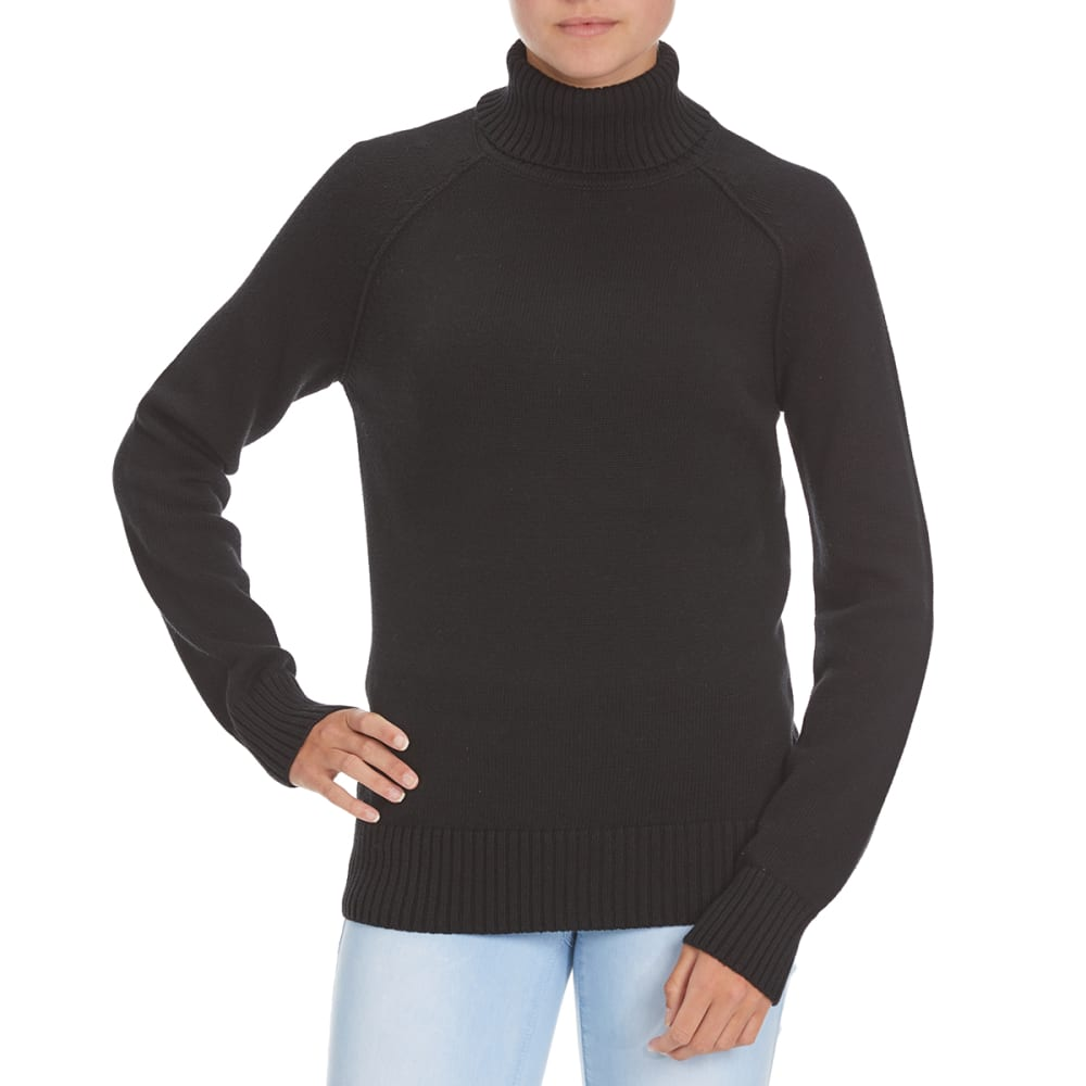 JEANNE PIERRE Women's Perfect Turtleneck Sweater - BLACK