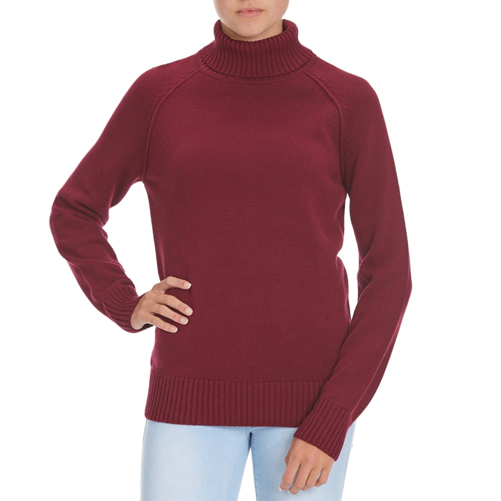 JEANNE PIERRE Women's Perfect Turtleneck Sweater - RASPBERRY