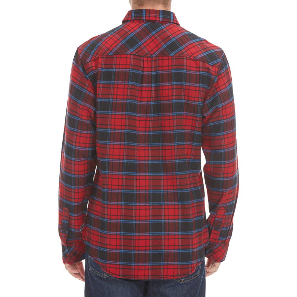 BURNSIDE Guys' Two-Pocket Flannel Shirt - RED