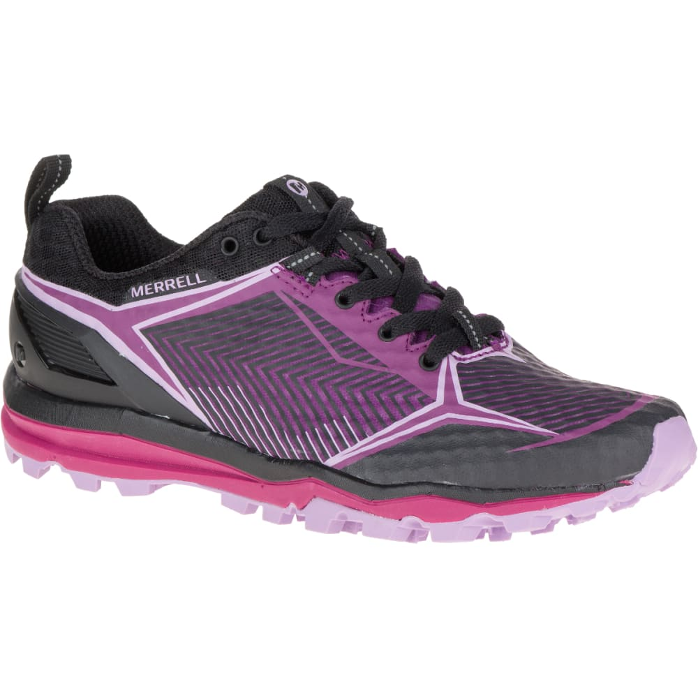 MERRELL Women's All Out Crush Shield Shoe, Black/Purple - BLACK/PURPLE