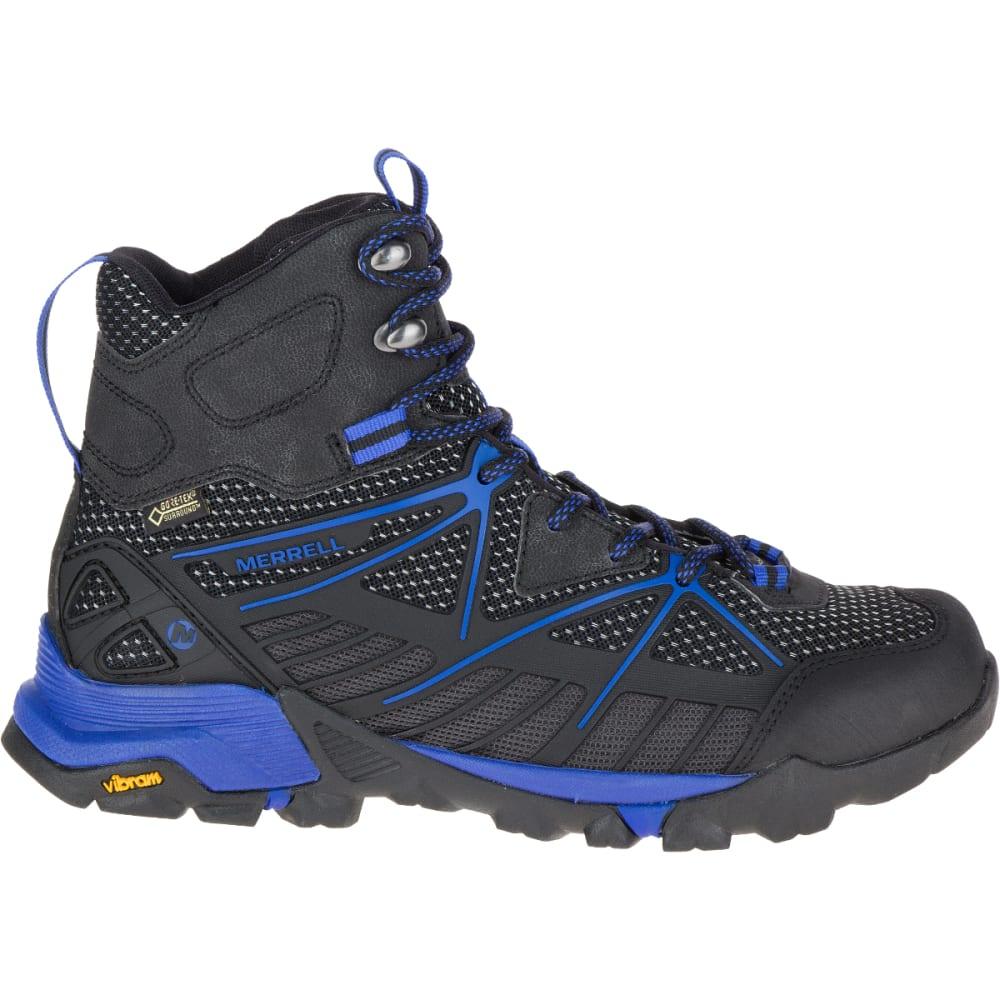 MERRELL Women's Capra Venture Mid Gortex Surround Hiking Boot, Black - BLACK