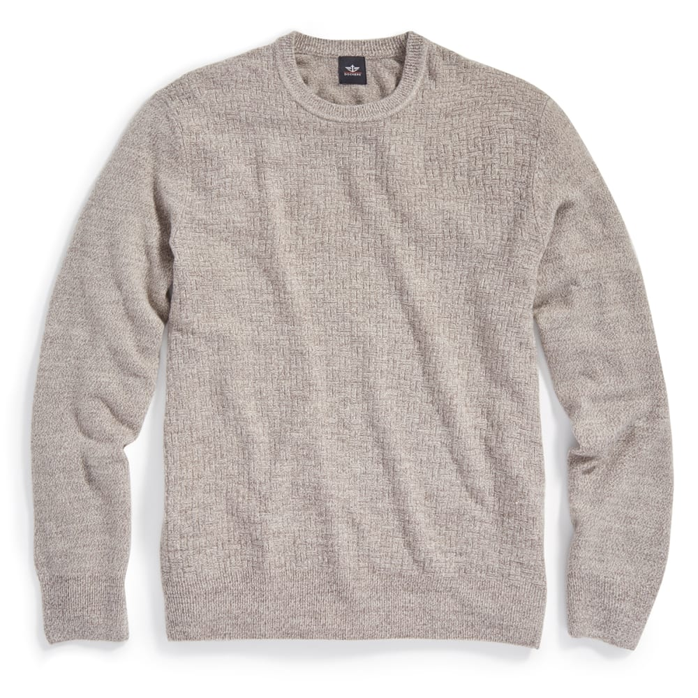 DOCKERS Men's Solid Crewneck Sweater - 8188-AULAIT MARL