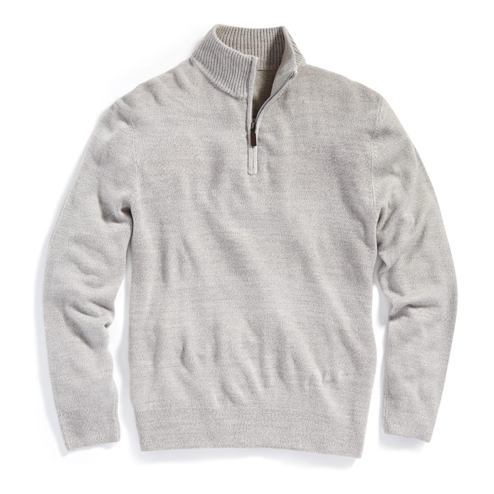 DOCKERS Men's Solid ¼ Zip Sweater - 8039-SLVR STONE