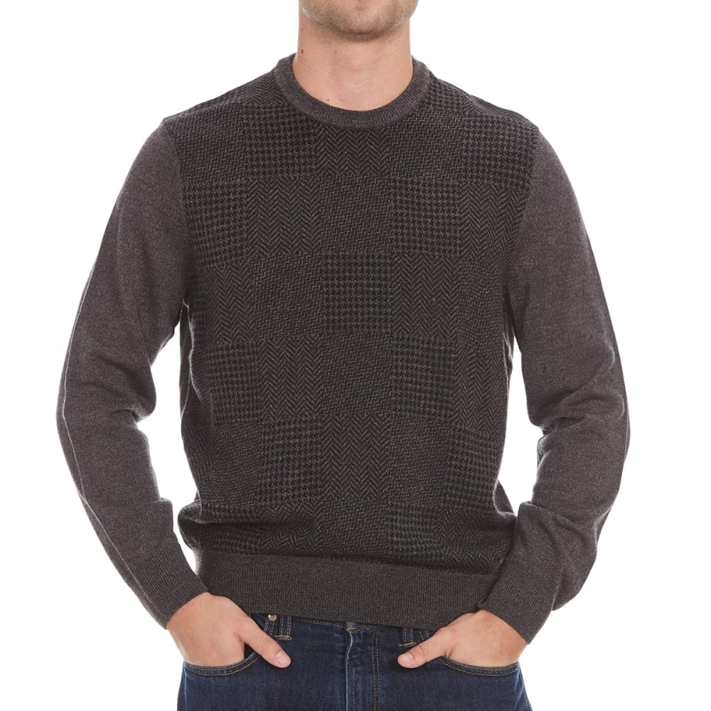 DOCKERS Men's Multi-Pattern Crewneck Sweater - 8028-STORM MARL