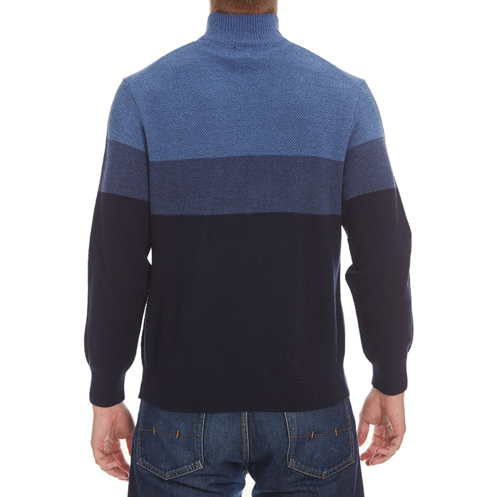 DOCKERS Men's Color-Block ¼-Zip Sweater - 8400-NAVY