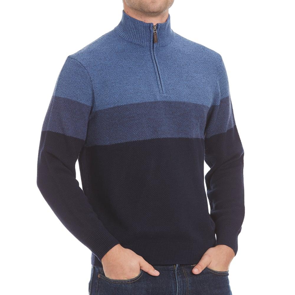 DOCKERS Men's Color-Block ¼-Zip Sweater - 8400-NAVY