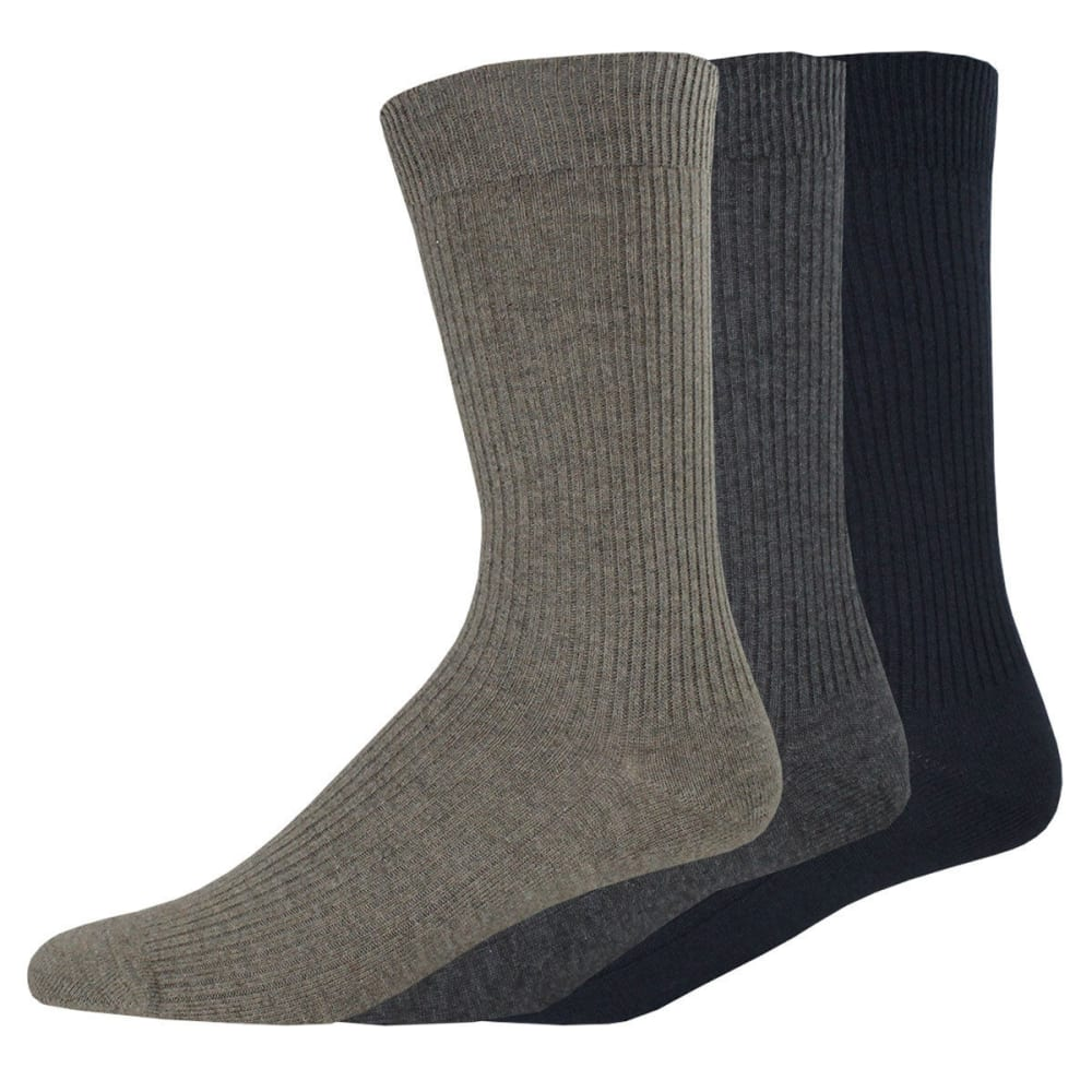 DOCKERS Men's Lightweight Crew Socks, 3 Pack - ASST 991