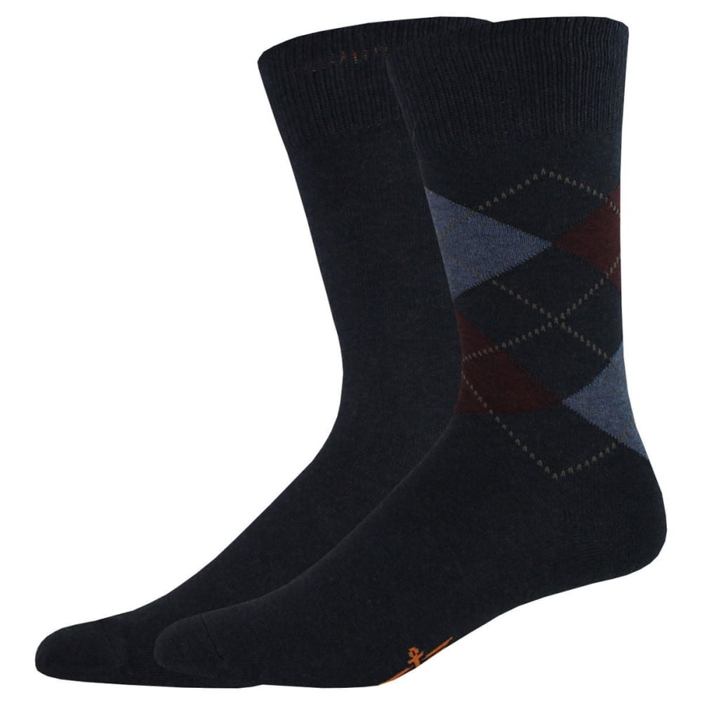 DOCKERS Men's Argyle Crew Socks, 2 Pack - NAVY 400