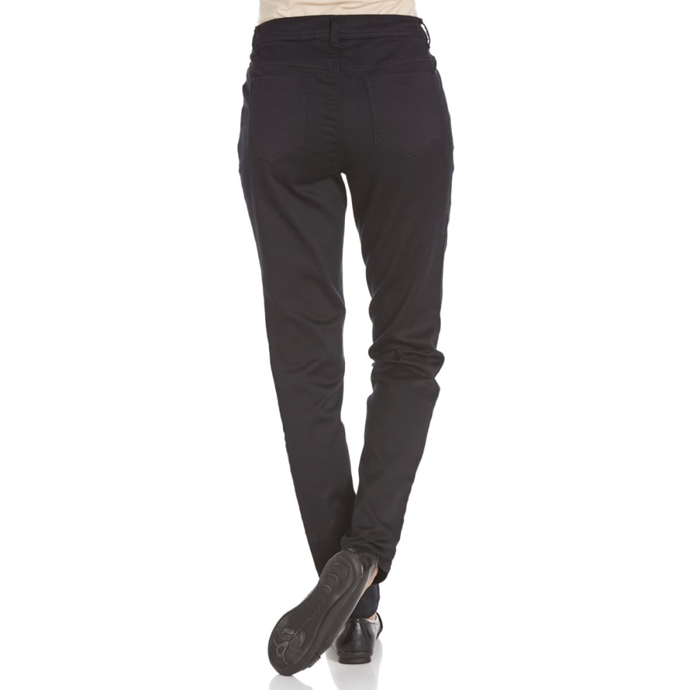 BACCINI Women's Skinny Sateen Pants - BLACK
