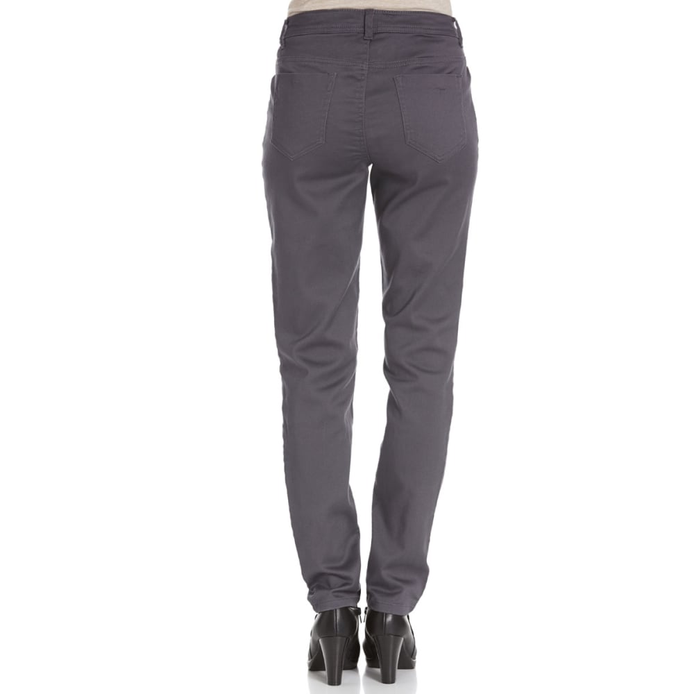 BACCINI Women's Skinny Sateen Pants - GREY