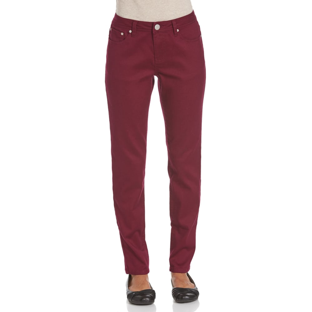 BACCINI Women's Skinny Sateen Pants - PLUM