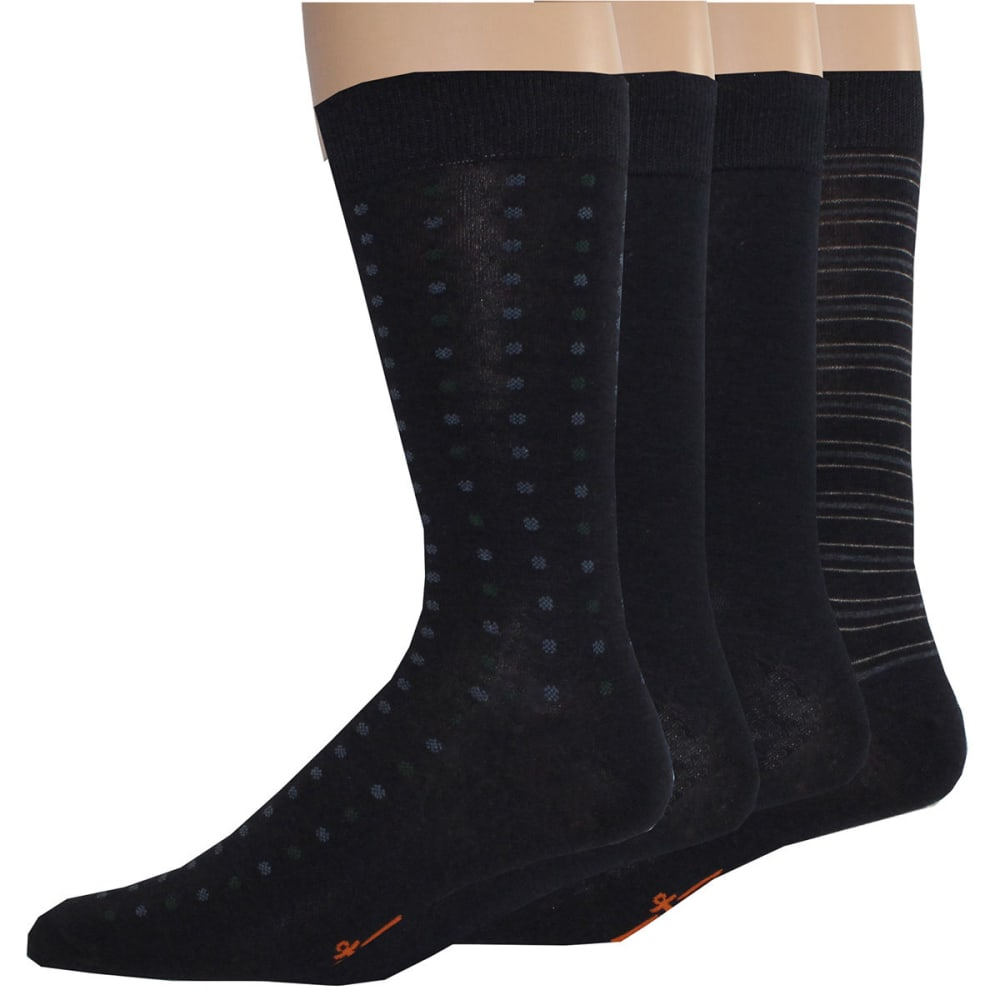 DOCKERS Men's Random Dot Crew Socks, 4 Pack - NAVY400