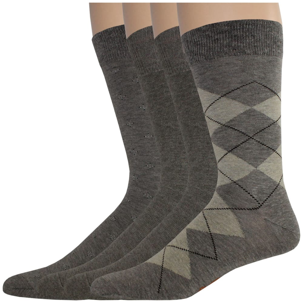 DOCKERS Men's Dress Argyle Socks, 4 Pack - LT BRN H 207