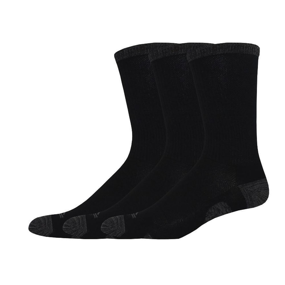 DOCKERS Men's Windward Crew TM Socks, 3 Pack - BLACK 001