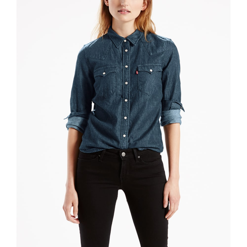 LEVI'S Women's Classic Western Plaid Shirt - 0050-PEPPER V2 CAVIR