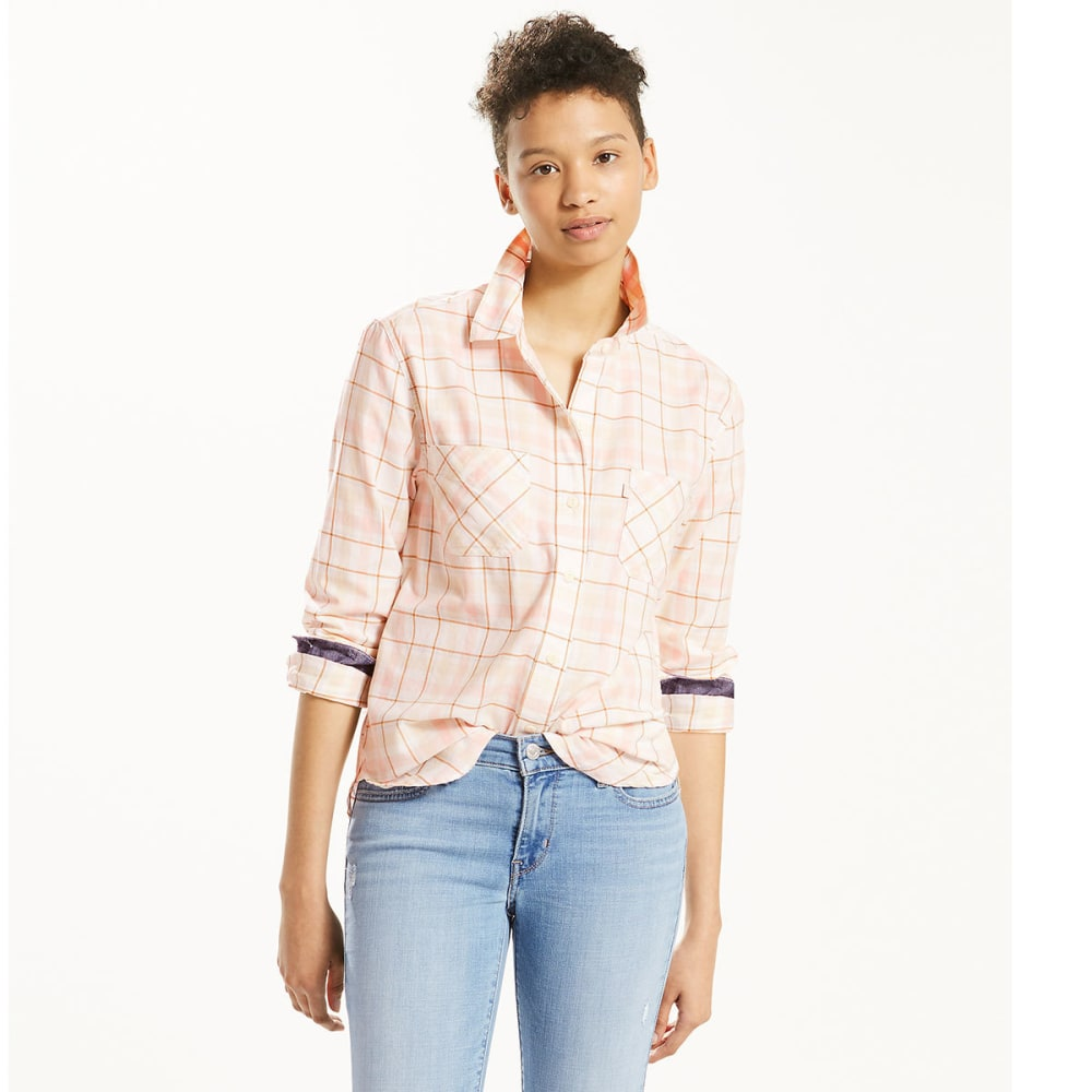 LEVI'S Women's Workwear Boyfriend Plaid Shirt - 0023-SUGARCANE SAFAR