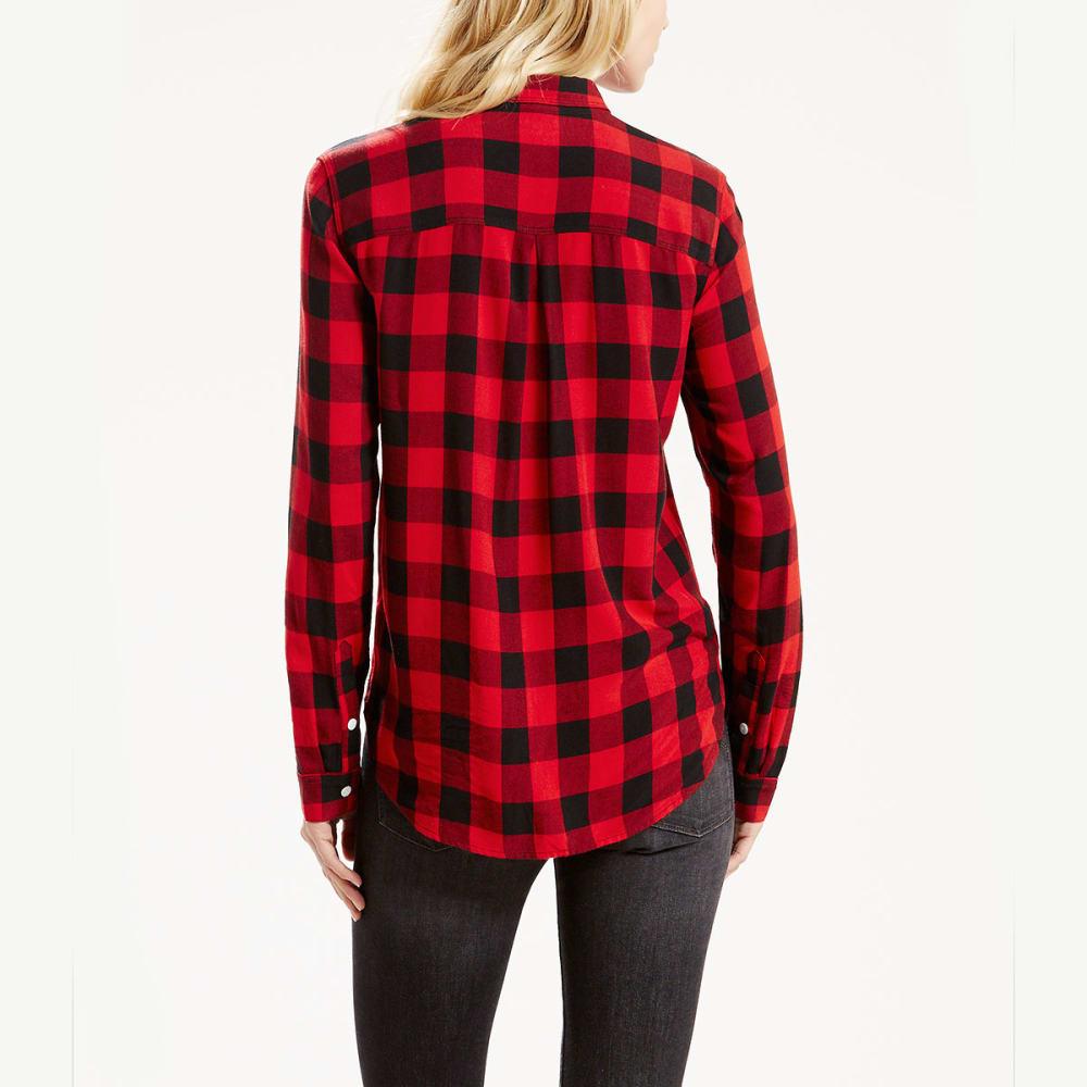 LEVI'S Women's Workwear Boyfriend Plaid Shirt - 0003-WOOD AVNS CAVIR
