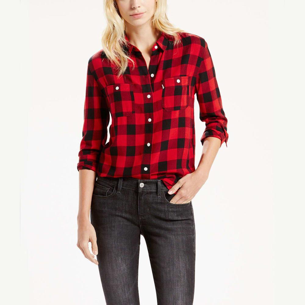 LEVI'S Women's Workwear Boyfriend Plaid Shirt S