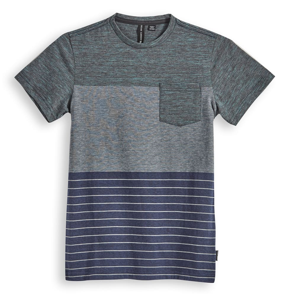 OCEAN CURRENT Boys' Tyrelle Pocket Crewneck Tee - INDIGO