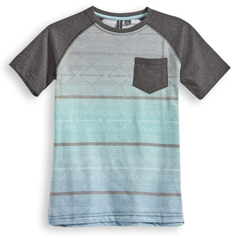 OCEAN CURRENT Guys' Decoder Aztec Pocket Tee - BLACK HEATHER