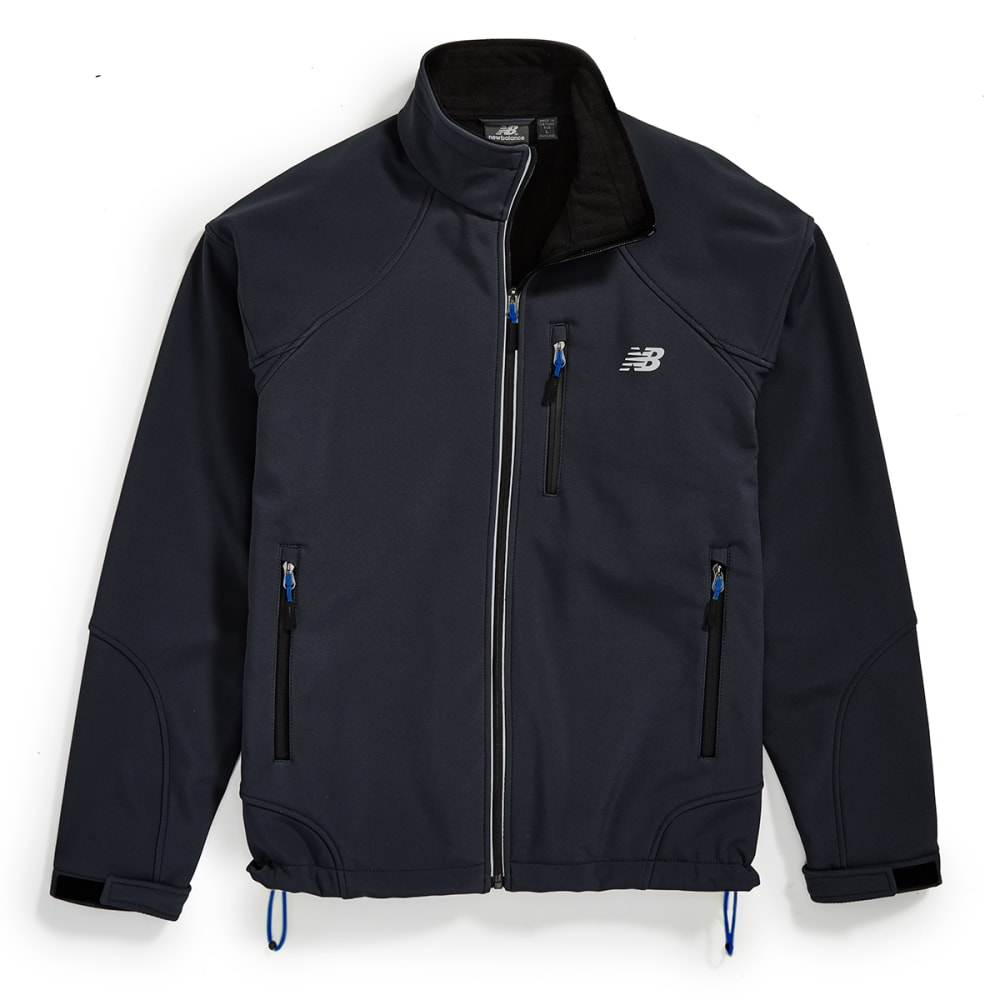 NEW BALANCE Men's Soft Shell Bonded Fleece Jacket - BLACK