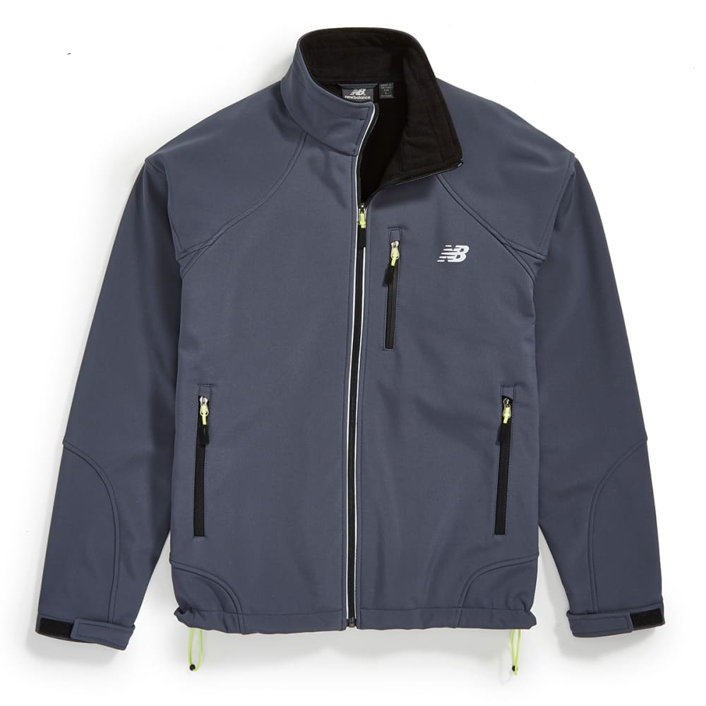 NEW BALANCE Men's Soft Shell Bonded Fleece Jacket - THUNDER GREY