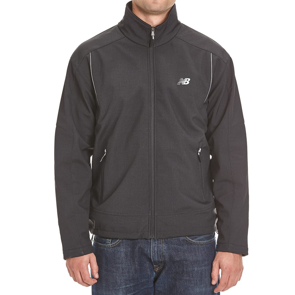NEW BALANCE Men's Printed Soft Shell Bonded Fleece Jacket - BLACK PRINT