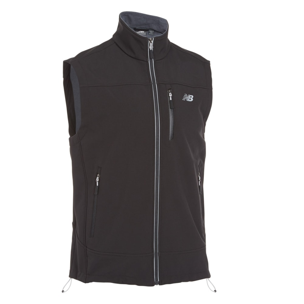 NEW BALANCE Men's Soft Shell Vest - BLACK