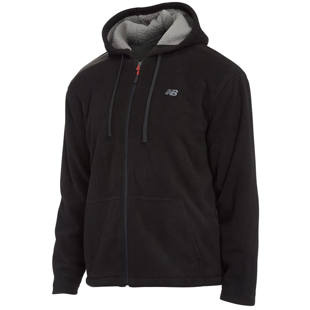 NEW BALANCE Men's Sherpa Hoodie - BLACK