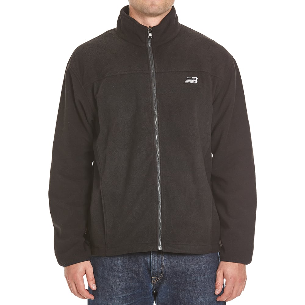 NEW BALANCE Men's Two-Tone Soft Shell Hooded 3-in-1 Systems Jacket - BLACK/ATHLANTIC BLUE