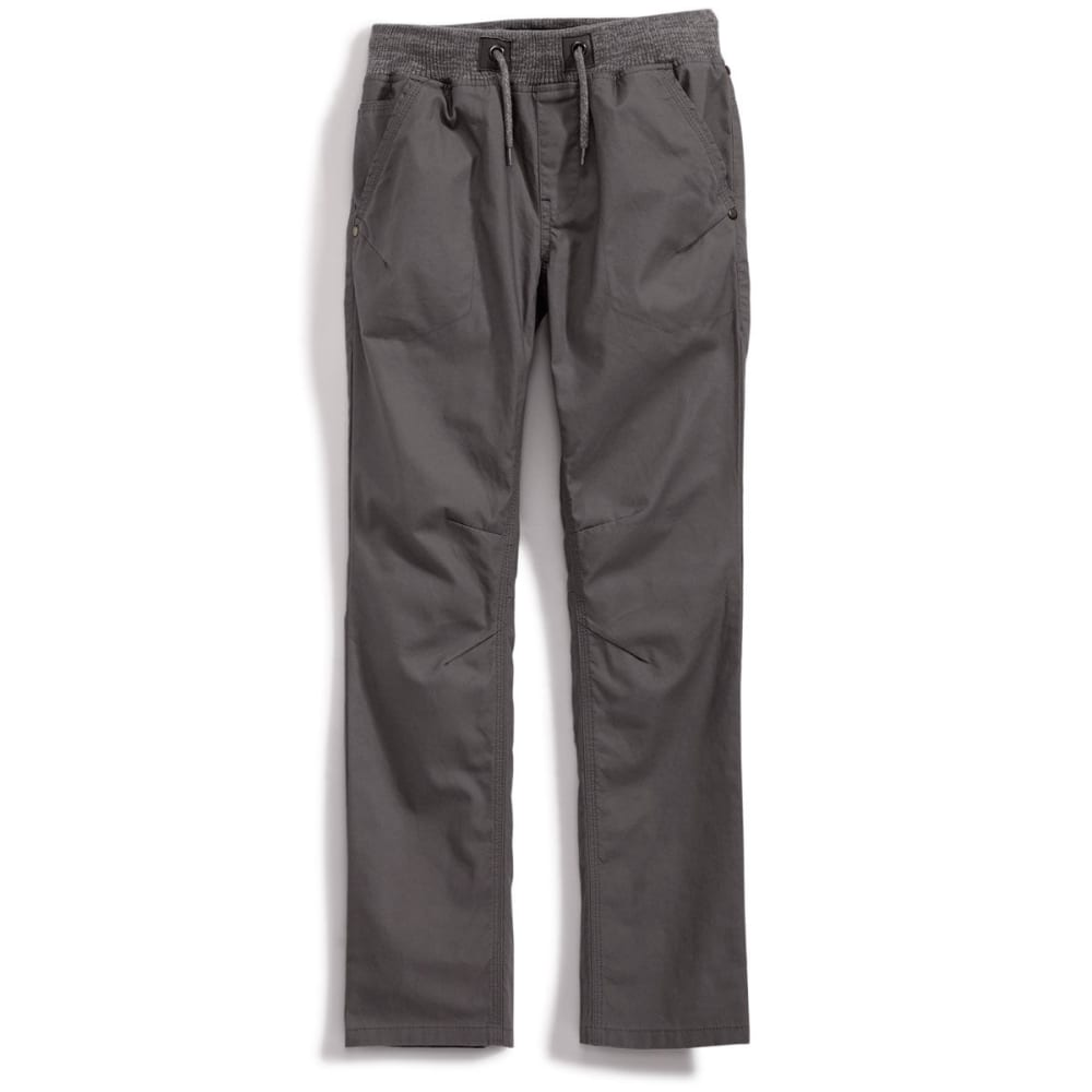 OCEAN CURRENT Boys' Marble Knit Canvas Pants - GUNMETAL