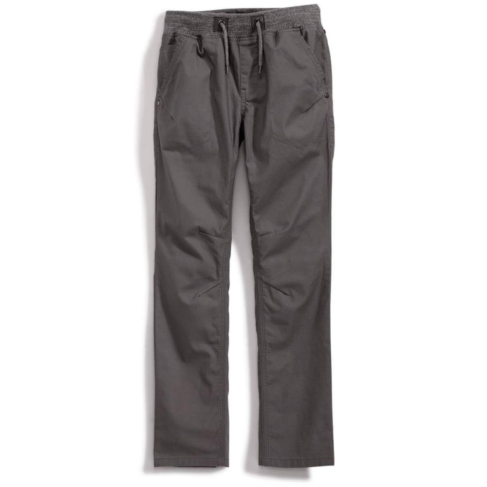 OCEAN CURRENT Boys' Marble Knit Canvas Pants - GUNMETAL