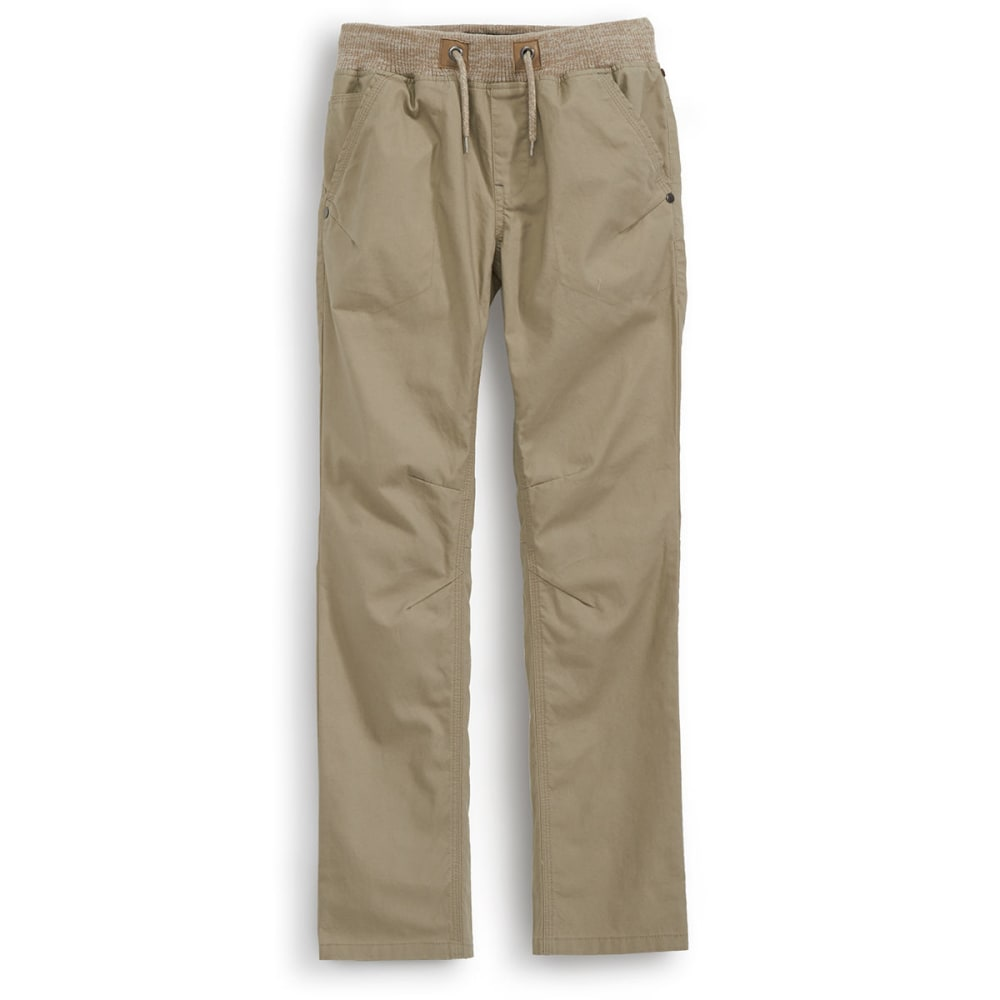 OCEAN CURRENT Boys' Marble Knit Canvas Pants - TAWNY