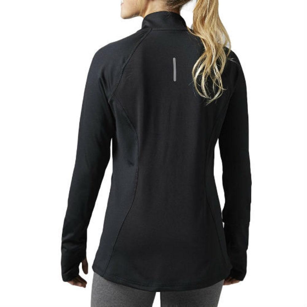 REEBOK Women's Brushed Back Full-Zip Track Jacket - BLACK-BH4705