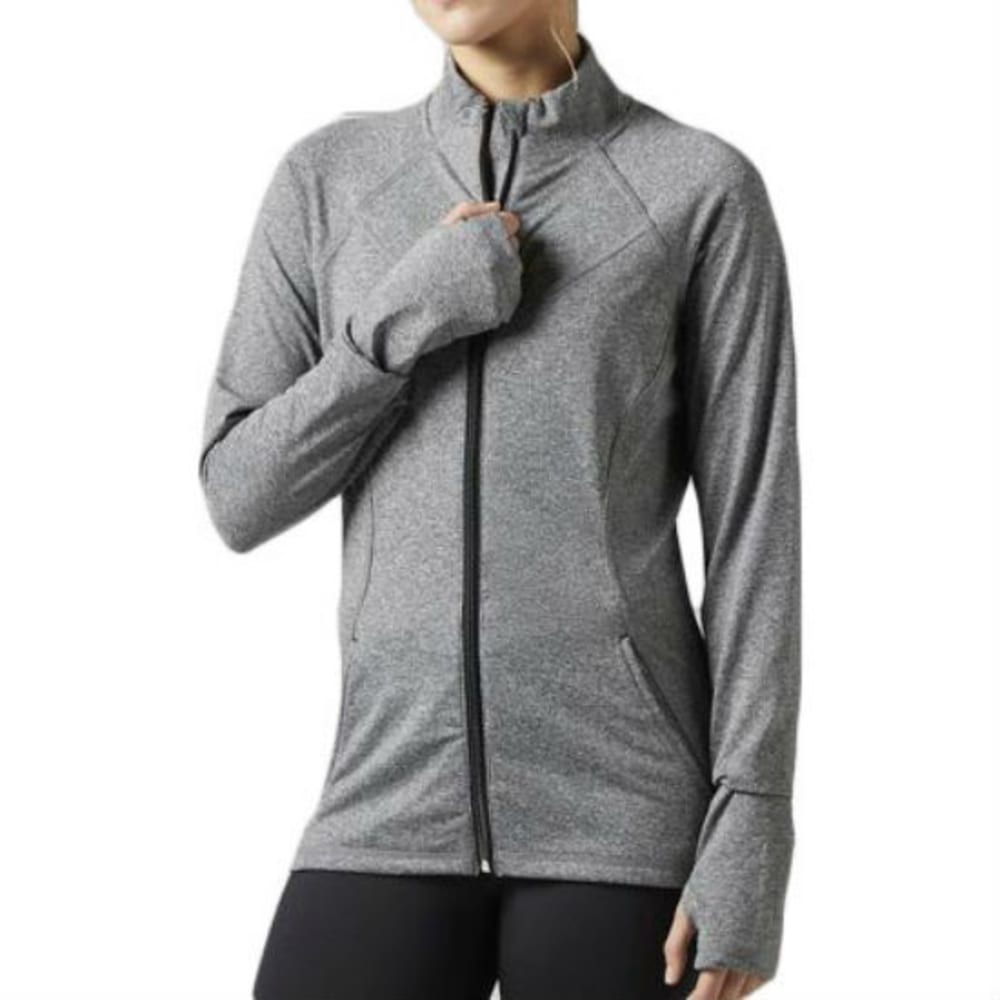 REEBOK Women's Brushed Back Full-Zip Track Jacket - CHARC HTHR - BH4706