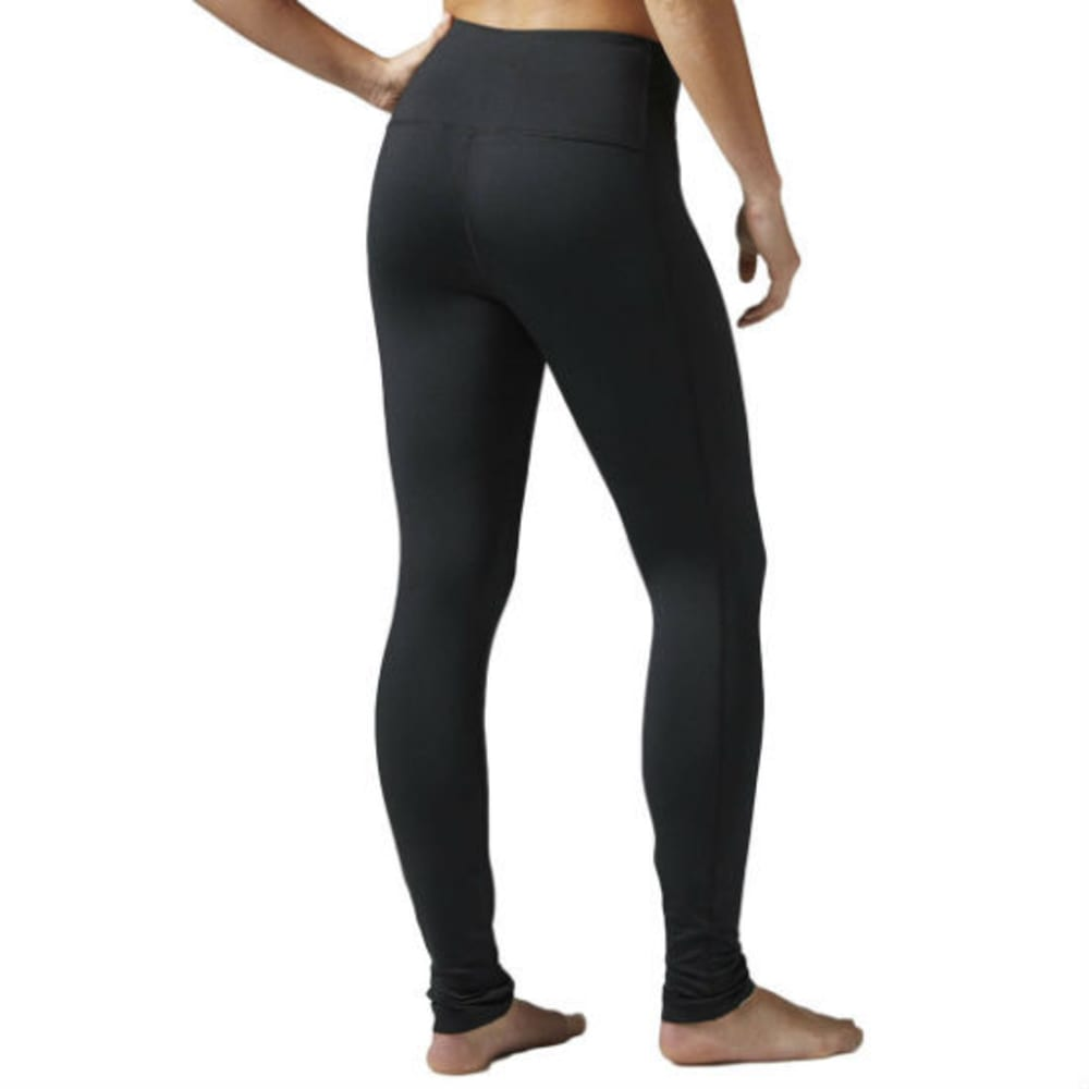 REEBOK Women's Brushed Back Tights - BLACK - BH4712