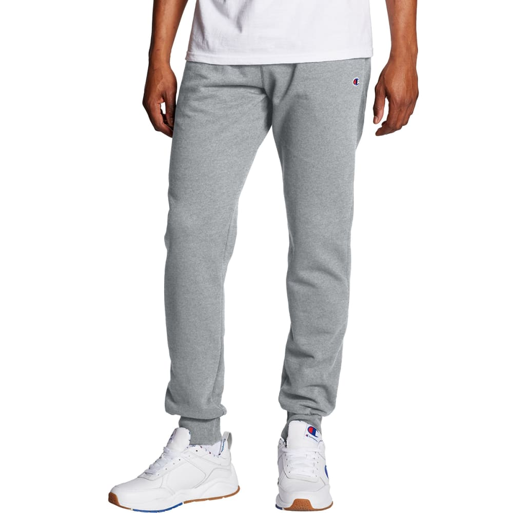 CHAMPION Men's Powerblend Retro Fleece Jogger Pants - OXFORD GRAY-806