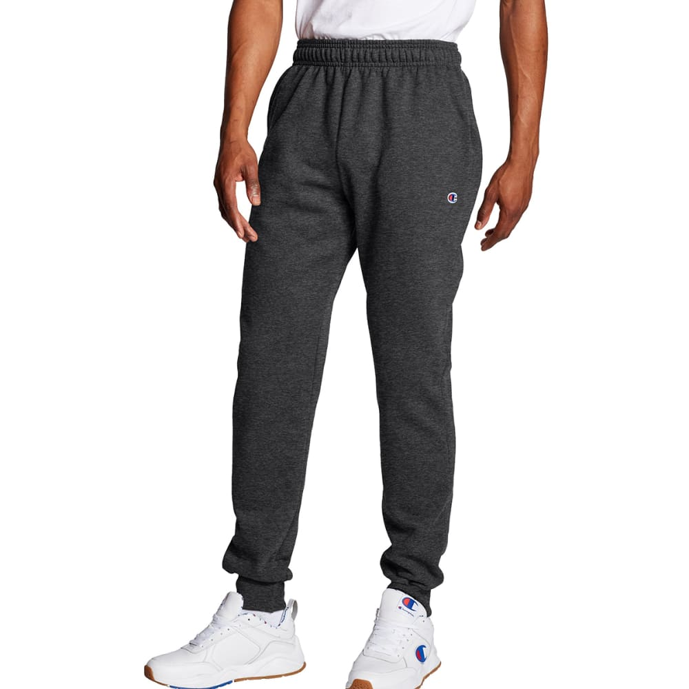 CHAMPION Men's Powerblend Retro Fleece Jogger Pants - GRANITE HEATHER-G61