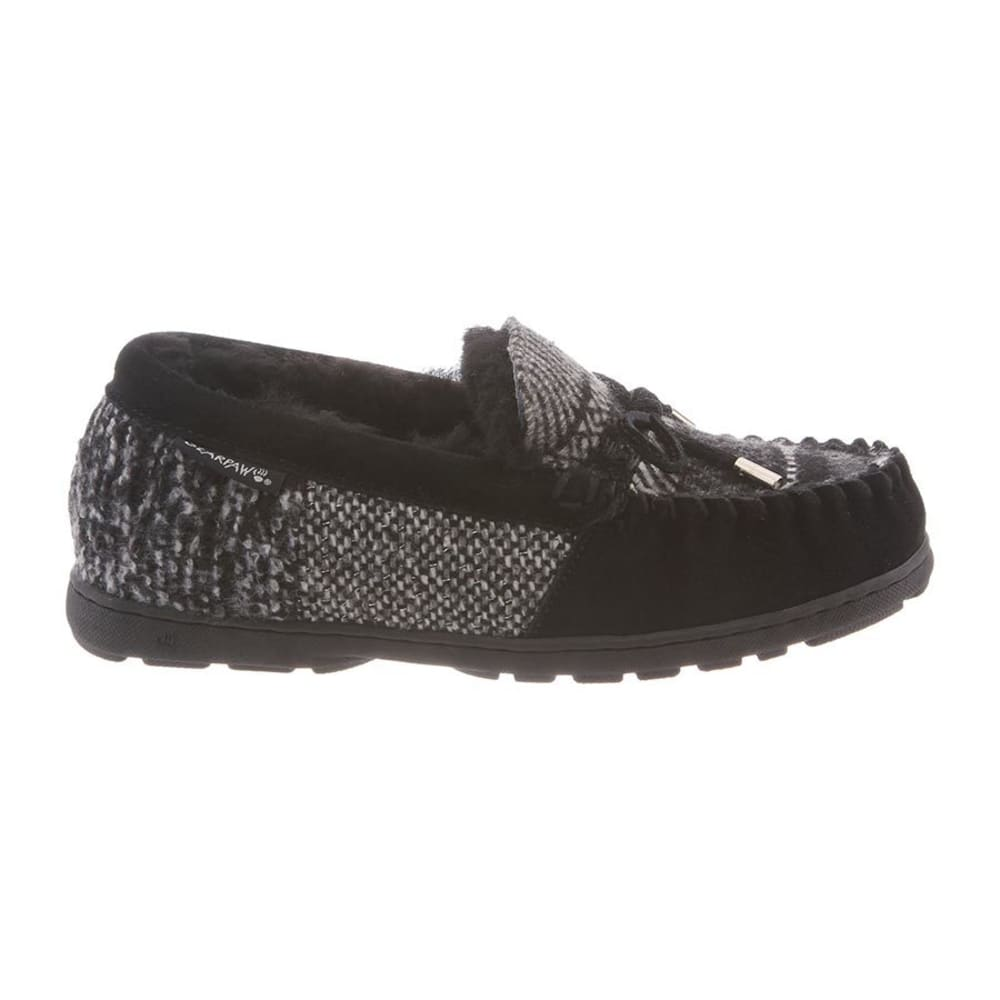 BEARPAW Women's Mindy Moccasin Slippers - BLACK