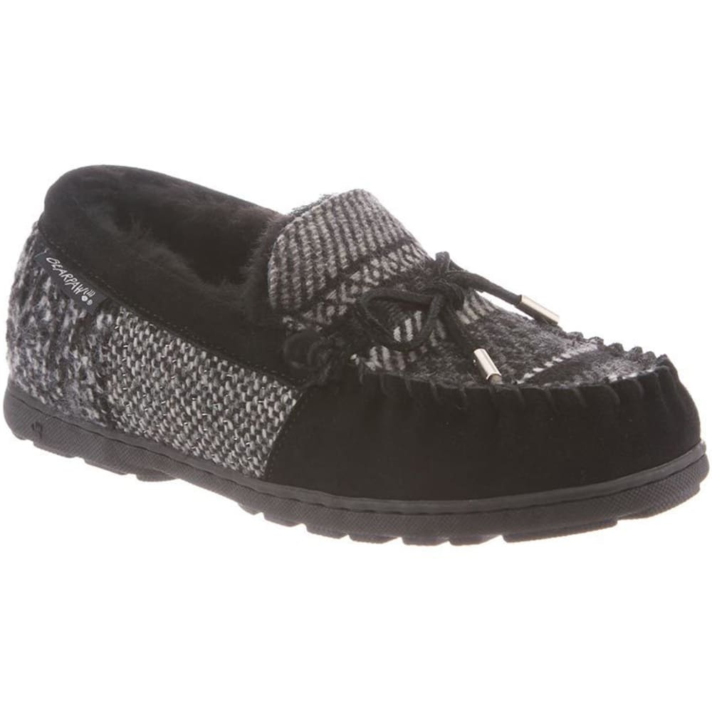 BEARPAW Women's Mindy Moccasin Slippers - BLACK