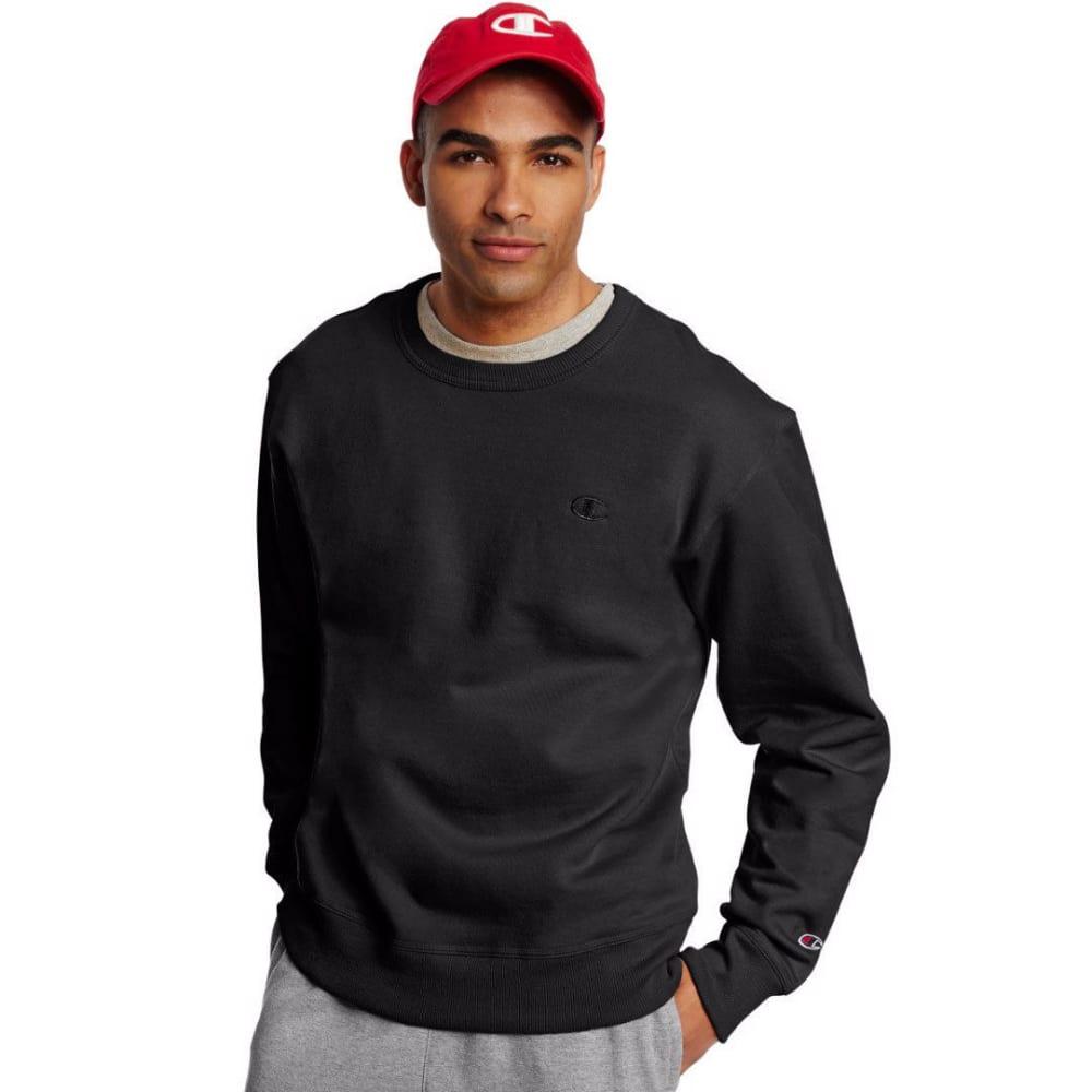 CHAMPION Men's Powerblend Fleece Crewneck Pullover - BLACK-003