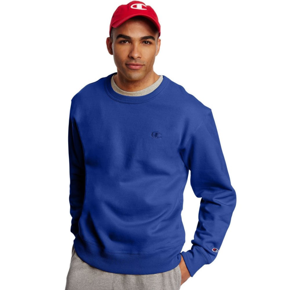 CHAMPION Men's Powerblend Fleece Crewneck Pullover - SURF THE WEB-GUX