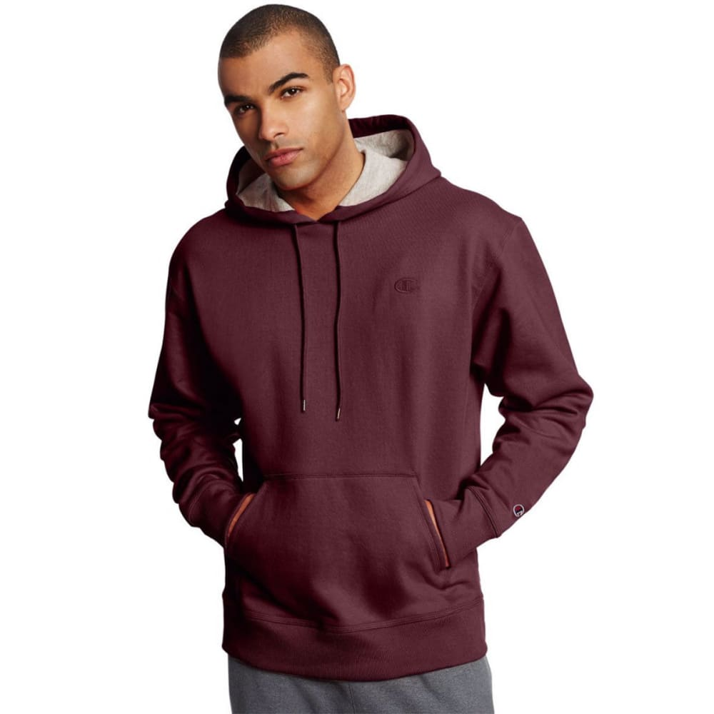 CHAMPION Men's Powerblend Fleece Crewneck Pullover Hoodie - MAROON-029