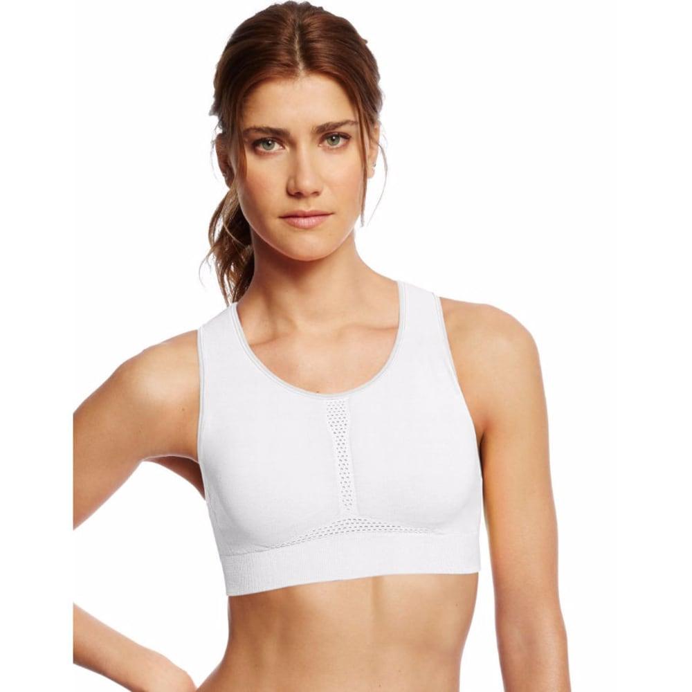 CHAMPION Women's Infinity Shape Seamless Sports Bra - WHITE-100