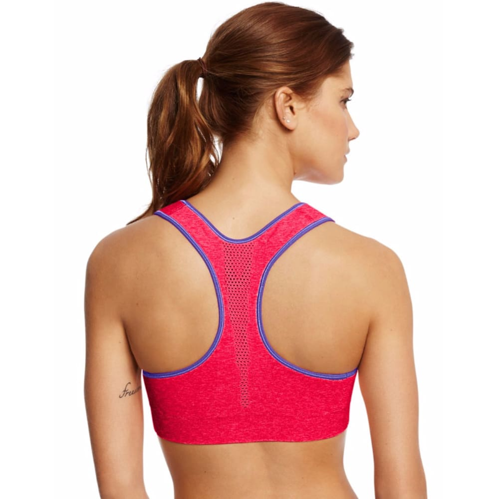 CHAMPION Women's Heather Infinity Shape Seamless Sports Bra - NEON FLARE HTR-N1J