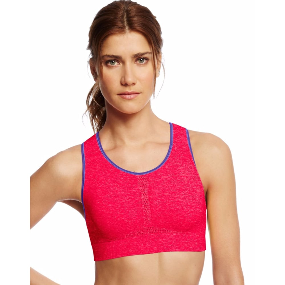 Champion Women's Heather Infinity Shape Seamless Sports Bra - Red, S